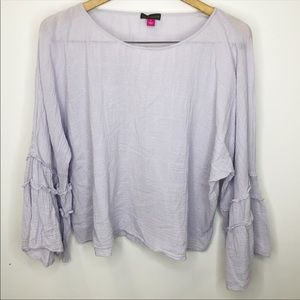 Vince Camuto Bell Sleeve Lilac Blouse Size Large